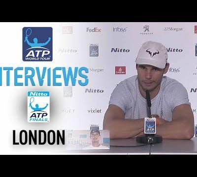 VidéoS - Londres - ATP FINALS - Conférence de presse et Interview après le match vs Goffin
