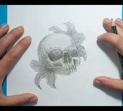 Como dibujar una calavera a lapiz