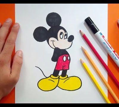 Como dibujar a Mickey Mouse paso a paso 6 - Disney