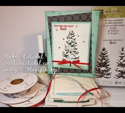 Carte Sapin enneigé Stampin' Up!