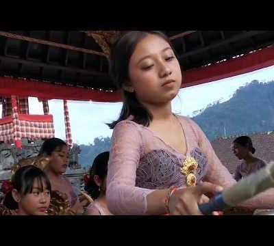 Cérémonie du Galungan à Sidemen, Bali
