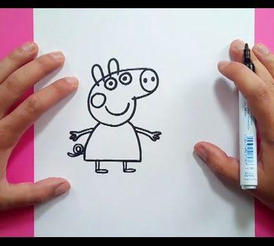 Como dibujar a Peppa Pig paso a paso - Peppa Pig