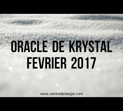 Guidance Oracle de Krystal Février 2017