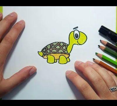 Como dibujar una tortuga paso a paso 7