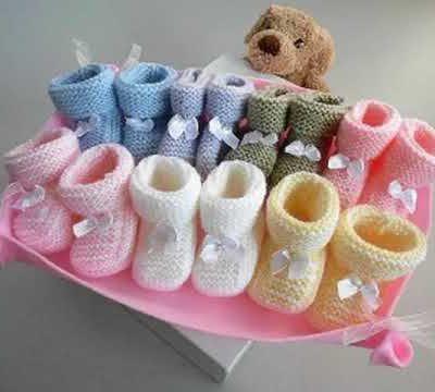 Couverture bébé rose et écrue modèle unique