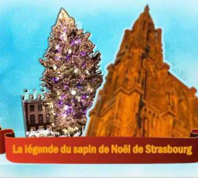 a légende du sapin de Noël de Strasbourg