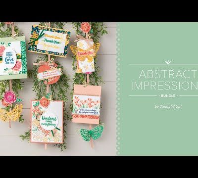 Stampin'Up! vidéo gratuite Impressions Printanieres / springtime Impressions Thinlits dies Abstract Impressions Bundle by Stampin' Up!
