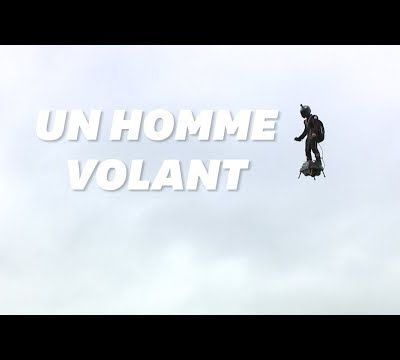 """""""Flyboard"""" : l'incroyable homme volant du 14 juillet avec son Fly Air Board"""