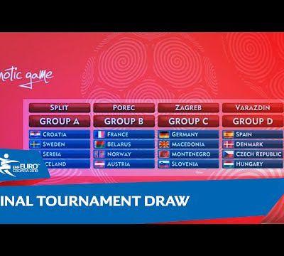§ Men's EHF Euro 2018. Final Tournament Draw.