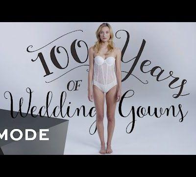 L'évolution de la robe de mariée durant 100 ans