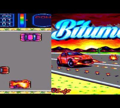 {Amstrad CPC) Présentation du jeu Bitume (Clone de Asphalt) 2017