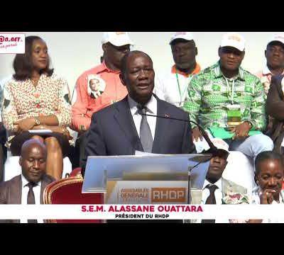 """Alassane Ouattara : """"Nous devons travailler le président Bédié et moi à transférer le pouvoir en 2020 à une nouvelle génération"""""""