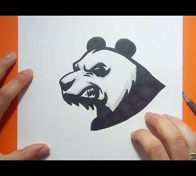 Como dibujar un oso panda paso a paso 5