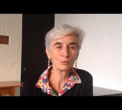 Véronique Fayet, Présidente du Secours Catholique rencontre les frères étudiants dominicains