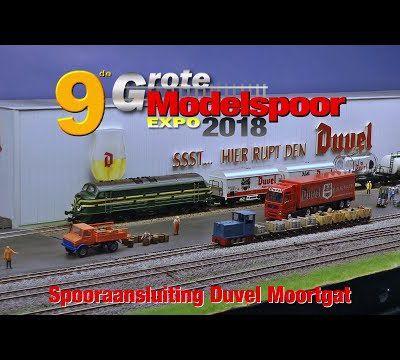 Exposition Modelspoor 2018 module Spooraansluiting Duvel Moortgat