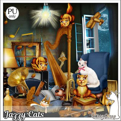 """JAZZY CATS"" de Kittyscrap"