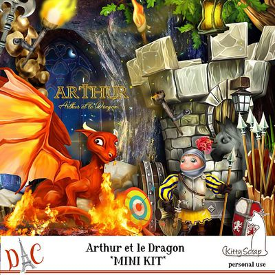 """ARTHUR ET LE DRAGON"" de Kittyscrap"