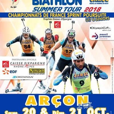 Biathlon Summer Tour, Arçon - 20 et 21 octobre.