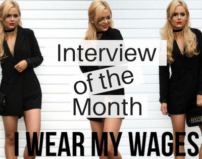 Interview of the Month - Jill Gourlay from I Wear My Wages