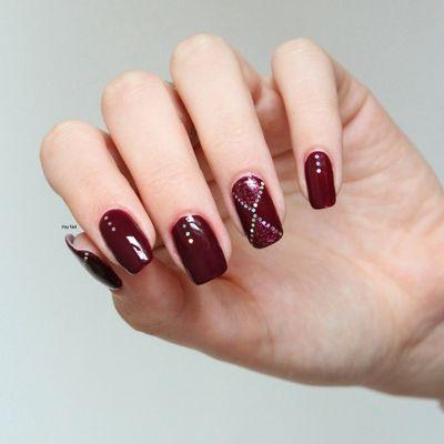 Nail Art Pailleté Graphique