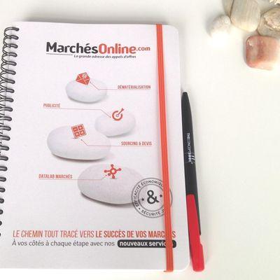 Un cahier personnalisé Traveller pour les appels d'offres en ligne... l'écrit reste une valeur sûre, efficace et durable...