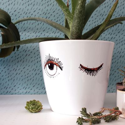 Customiser un pot de fleur ou le clin d'oeil à cette  bouture d'aloe vera !!