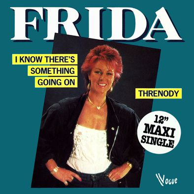 FRIDA - I KNOW THERE'S SOMETHING GOING ON - MAXI VINILO - 1982
