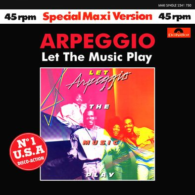 ARPEGGIO - LET THE MUSIC PLAY - MAXI VINILO - 1978