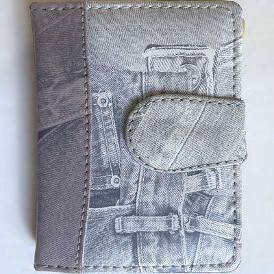 Carnet de notes rechargeable Jeans 9X12cm/A7- 60 pages +crayon