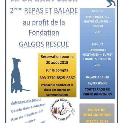 26 AOÛT - BALADE et repas au profit de l'association Galgos Rescue