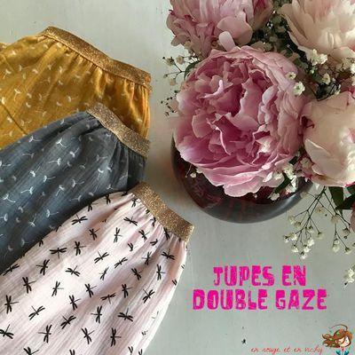 Les jupes en double-gaze [Défi P12 inside]