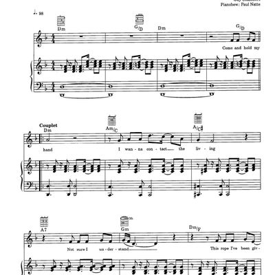 "Partitura Para Piano ""Feel"" 