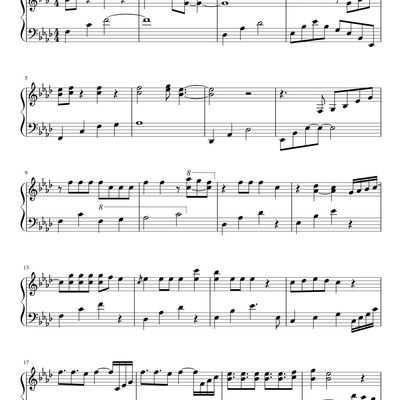 "Partitura Para Piano ""Monster"" 