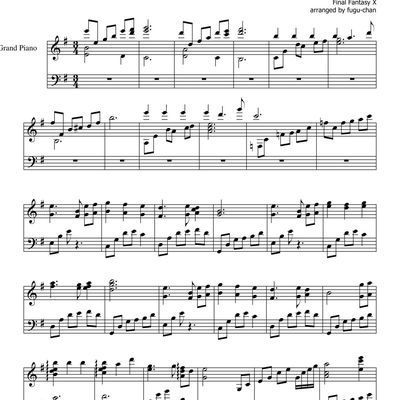 "Partitura Para Piano ""To Zanarkand"" 