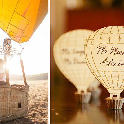 Une décoration sur le thème de la montgolfière