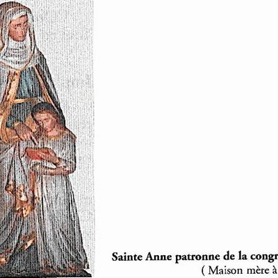 SAINTE ANNE PATRONNE DE LA CONGREGATION