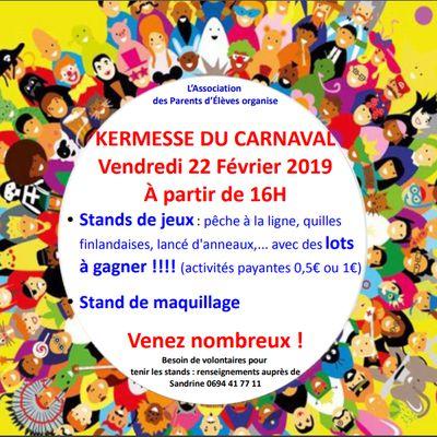 Kermesse du Carnaval du 22/02/2019