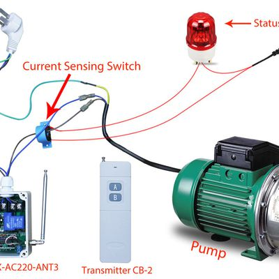 How to remote control and monitor ac pump?