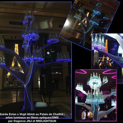 Sculpture lumineuse en fibre optique - MIDLIGHTSUN