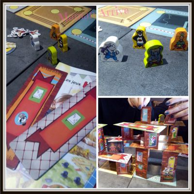 Rhino Hero Super Battle de Haba : jeu d'adresse en 3D