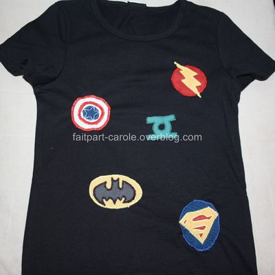 tee shirt customisé super héro