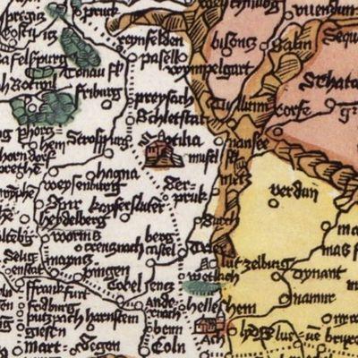 1500 La carte de Erhart Etzlauber et le Mont Sainte-Odile
