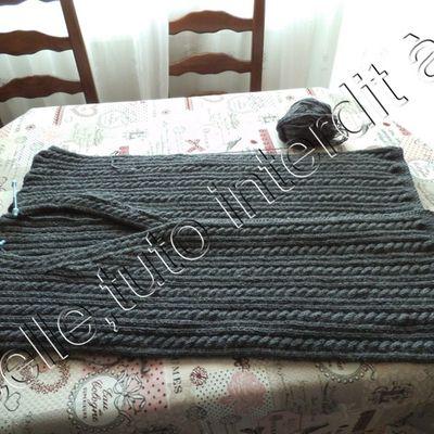 tricot; avancée de la veste de ma belle fille