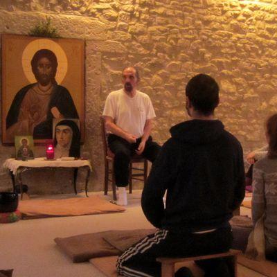 Photos de la dernière session de méditation de l'année