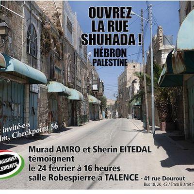 La campagne open SHuHada Street, Ouvrez la rue Shuhada !,
