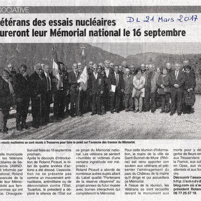 INFO: REVUE DE PRESSE/JOURNAL DAUPHINÉ LIBÉRÉ 21 MARS 2017