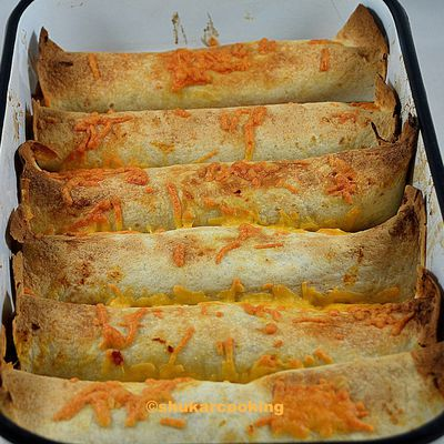 Enchiladas de carne echada