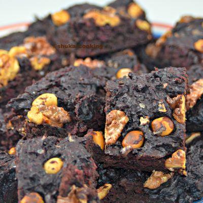 Brownie à la betterave sans beurre ni sucre