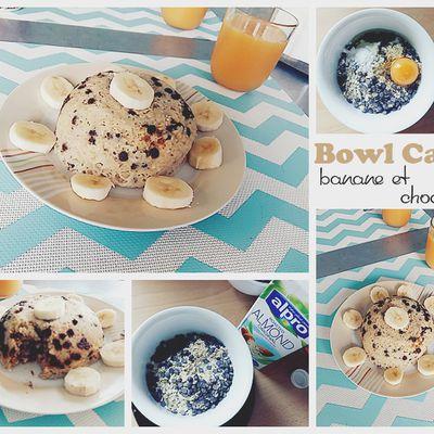 Bowl cake banane et chocolat