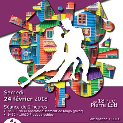 Séminaire tango samedi 24 février 2018